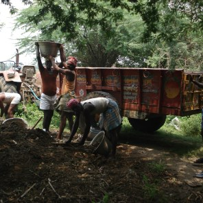 Supply of Organic manure to poor farmers