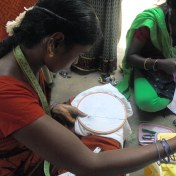 Women learning Handicraft