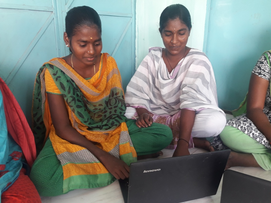 Computer Training for poor rural women