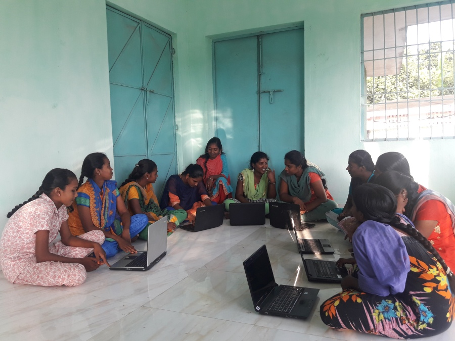 Women Being trained to break the skill gap