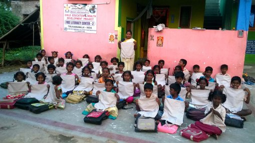 Supply of Biodegradable cotton EASY bags to beneficiaries of Child Development project