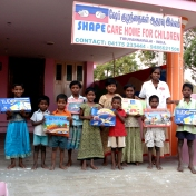 Sponsored children with toys