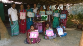 Women with their handcrafted designs