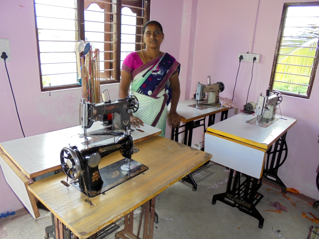 Tailoring teacher at one of the WOCTADs