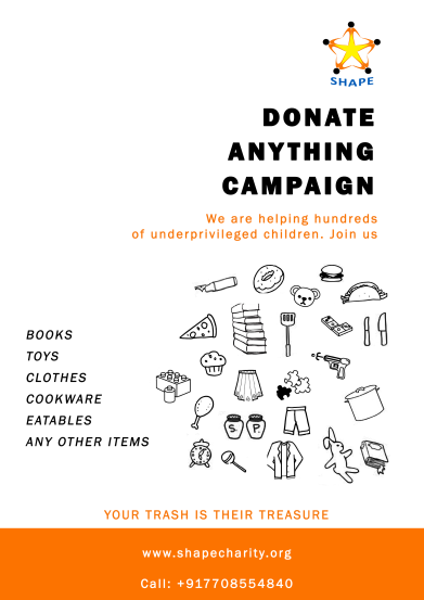 Donate anything campaign