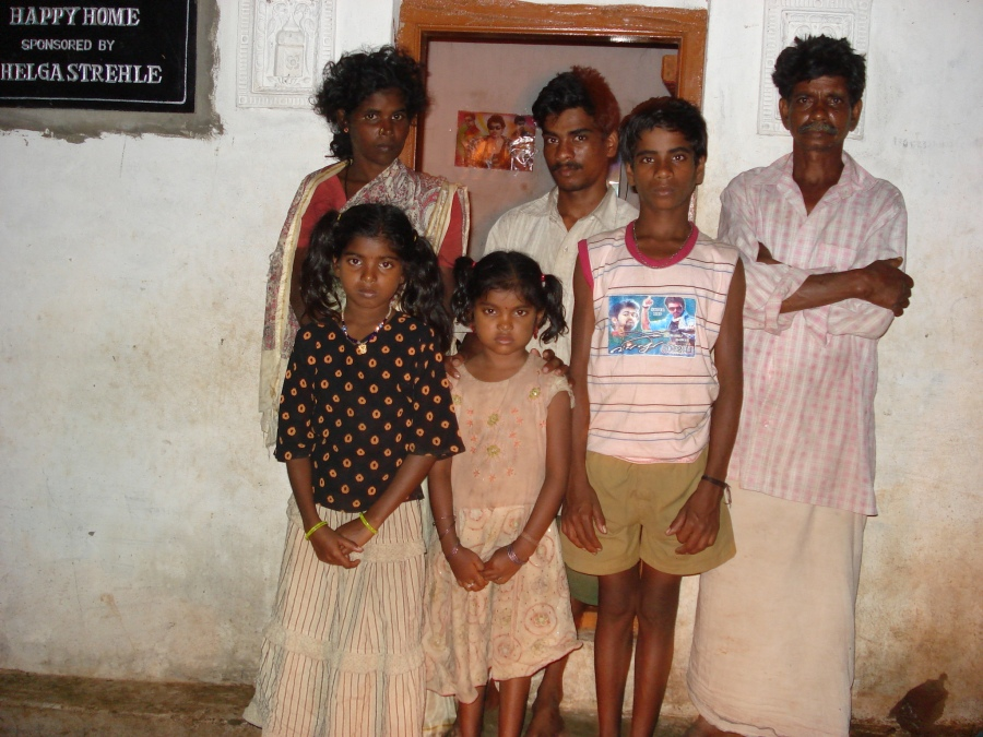 HIV Victim family with the sponsored children