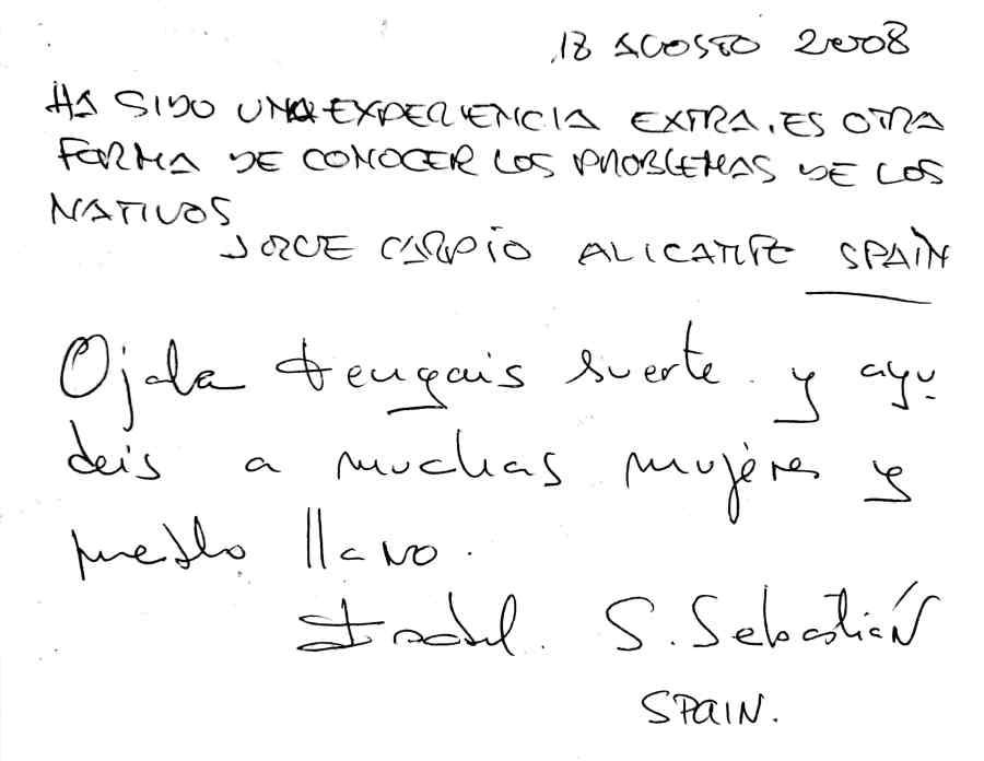 Mr. Sebastian, Spain
