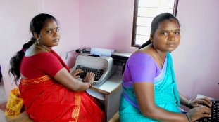 Typewriting Training beneficiaries