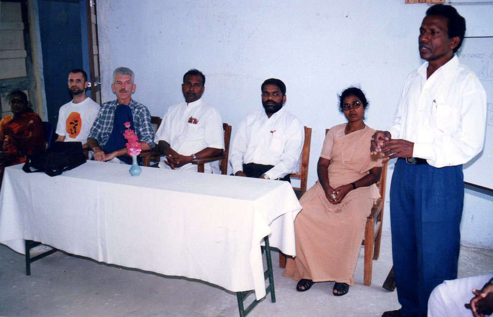 The Founder (far right) addresses the members of NOVA
